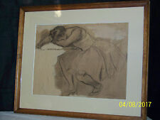 """Rare"" Albert Steiner Major Listed Artist Original Drawing Sketch"