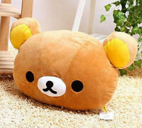 Rilakkuma San-X Relax Bear Brown Head 2in1 Plush Cushion Pillow Soft Doll Gifts