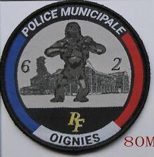 Ecusson Police Municipale Ville De OIGNIES