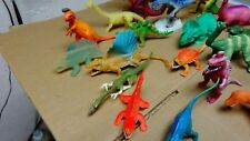DINOSAUR LOT OF50 PLUS USED PLAYED WITH RUBBER AND PLASTIC FIGURES