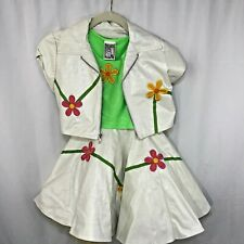 "Hollywood Babes Pageant ""Christy"" outfit. 3 Piece Flower Power Leather look SM"