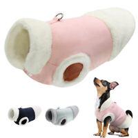 Winter Hundemantel für kleine mittelgroße Hunde Katzen Fleece Hundekleidung S-XL