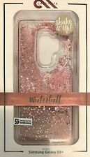 CaseMate Waterfall Case for Galaxy S9+ Plus Clear Rose Gold Pink