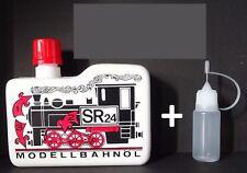SR 24 Dampf- und Reinigungsöl  Modellbahnöl 225ml + 10ml Nadelflasche