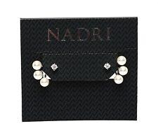 Nadri Faux Pearl And Cubic Zirconia Womens Ear Jackets Earrings 0124