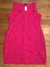 NWT Womens TIANA B. Pink Lace Overlay Sleeveless Dress Size Medium M $98