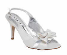 High Heel (3-4.5 in.) Slingbacks Satin Bridal Shoes