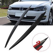 Black 43cm Headlight Eyebrow Eyelids Decor For VW Golf 7 VII GTI R MK7 2013-15