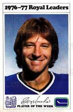 1976-77 Vancouver Canucks Royal Bank #11 Garry Monahan