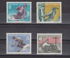 TIMBRE STAMP 4 LIECHTENSTEIN Y&T#296-99 SPORT HIVER NEUF**/MNH-MINT 1955 ~R26
