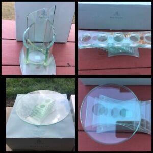 PartyLite Stratus Votive, Tealight, 3-wick, Pillar Holder Clear Glass