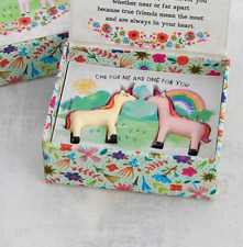 Best Friends Forever UNICORN toy lucky charm token gift set NEW with gift box