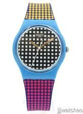 Swatch Originals Behind The Wall Multicolor Silicone Watch 34mm GS146