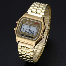 New Retro Classic F-91W Style Digital Casio Watch Sport Gold