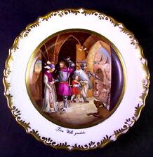 antiker handbemalter Teller - signiert WILK - DEIN WILLE GESCHEHE (Vaterunser)