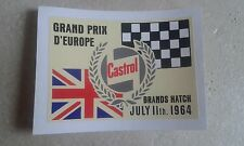 CLASSIC MINI COOPER S BMC WORKS GRAND PRIX BRANDS HATCH PERIOD STICKER MPI 1275