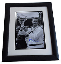 Rod Laver SIGNED FRAMED Photo Autograph 16x12 LARGE display Tennis AFTAL & COA