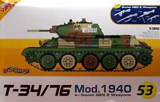Dragon 1/35 9153 WWII Soviet T-34/76 Mod.1940 w/Bonus - Soviet GEN 2 Weapons