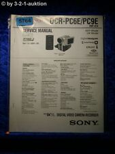 Sony Service Manual DCR PC6E /PC9E Level 1 Digital Video Camera (#5764)