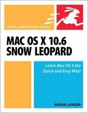 NEW - Mac OS X 10.6 Snow Leopard: Visual QuickStart Guide