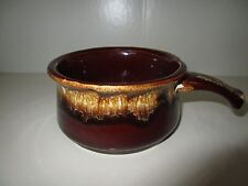 VINTAGE ROSEVILLE POTTERY RRP COM- USA ~ BROWN CROCK WITH HANDLE