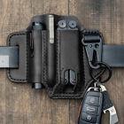 Multitool Flashlight Sheath Belt Leather EDC Pocket Organizer Pen Key Holder