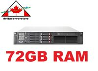 HP DL380 G6 2x Intel X5560 2.80Ghz Quad Core XEON 72GB RAM 4x 146GB SAS HD 2x PS