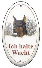 Türschilder Schäferhund-emaille-schild-145 X 185 Mm-türschilder-hund-tiere-email-warnschild Schilder & Plaketten