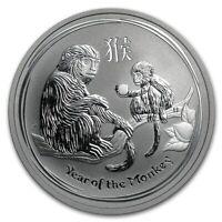 Perth Mint Australia $ 0.5 Lunar Series II Monkey 2016 1/2 oz .999 Silver Coin