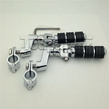 """Chrome 1"""" Highway Foot Pegs Rest For Harley Davidson Sportster XL 883 1200"""