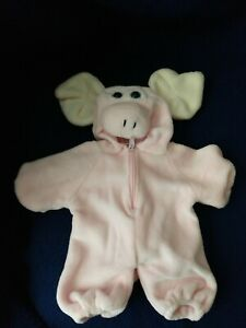 """SOFT PINK PIG Costume / Outfit UNIPAK Designs 6"""" Excellent Condition  bear cloth"""