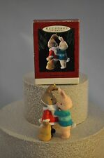 Hallmark - Mom and Dad - Rabbits 1994  Helping Dad with Beard - Classic Ornament