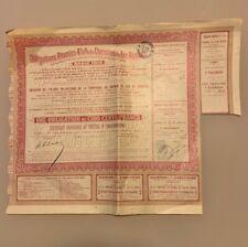 EMPRUNT RUSSE OBLIGATION DE 500 Frs CERTIFICAT PROVISOIRE AU PORTEUR SERIE 1914