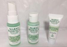 3~Mario Badescu 🌹Enzyme Cleansing Gel ,Facial Spray W. Aloe, Exfoliating Scrub