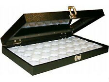 36 Gem display Jars see thru glass storage Showcase Display Case Storage Box