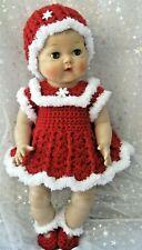 Precious DRESS, HAT, PANTY & SHOE set for 15 inch Tiny Tears - Christmas