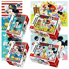 Trefl mini 4 x 54 pieces enfants unisexe disney mickey minnie mouse jigsaw puzzle