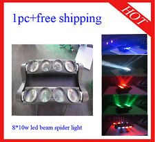 1pc 8*10W Led Beam Spider Light RGBW 4 in 1 Led Effect Light Free Shipping