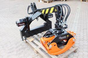 120cm Holzzange mit  Anbaubock SET ⭐️🔥⭐️ Rückezange Verladezange Frontlader NEU