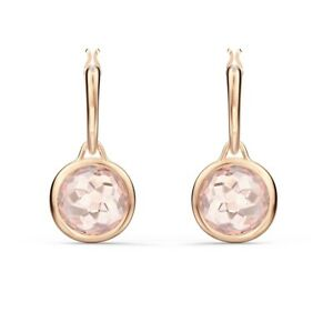 Tahlia hoop earrings Round, Pink, Rose gold-tone plated