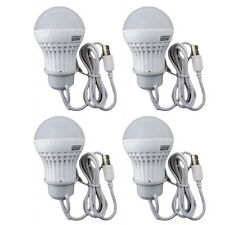 4x 3W USB Power Natural White LED Night Light Bulb Portable Lamp Reading AD-6344