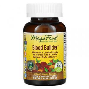 MegaFood, Blood Builder, 30 Tablets