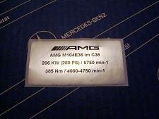 Original Mercedes Motor-Aufkleber AMG M104 E36 im C36 AMG