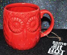 New Home Essentials Shaped Coffee/Tea Mug 3D Owl Forrest Bird Red