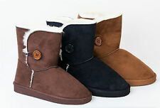 Faux Suede Pull On Casual Boots for Women