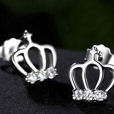 Women Drop Earings Bridal Elegant Crystal Crown Dangle Earring Jewellry Gift Z