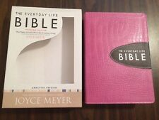 Amplified Everyday Life Bible Joyce Meyer - Pink Bonded Leather -$65.00 Retail