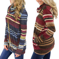 Womens Turtle Neck Loose Long Sleeve Knitted Sweater Jumper Pullover Shirt Tops