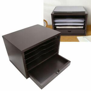 DEPRQ Document Storage Rack Office Desk File Folder Data Holder Office Books Storage Shelf Multi-Functional Storage Box Desk File Organiser Color : Gray