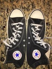 VINTAGE 1980s BLACK CONVERSE ALL STAR CHUCK TAYLOR HIGH TOP Made in USA Sz 10.5